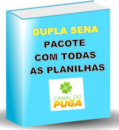 PACOTE DE PLANILHAS DUPLA SENA