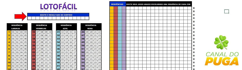 Planilha Lotofácil - Estudo Fundamental Para Montar Os Jogos