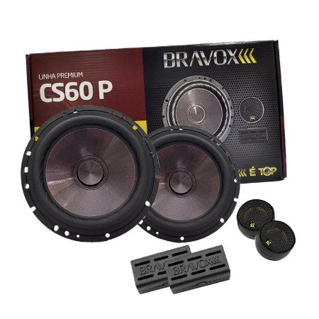 "Kit 2 Vias 6"" Bravox Premium CS60P - 120 Watts RMS"