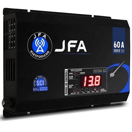 Fonte e Carregador Slim JFA 60 AMPERES