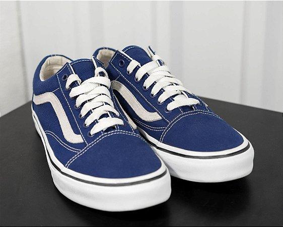 Vans Old Skool Twilight Blue True White - Supply Sneakers 8183b413ac5f