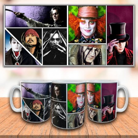 Caneca Johnny Deep - Personagens