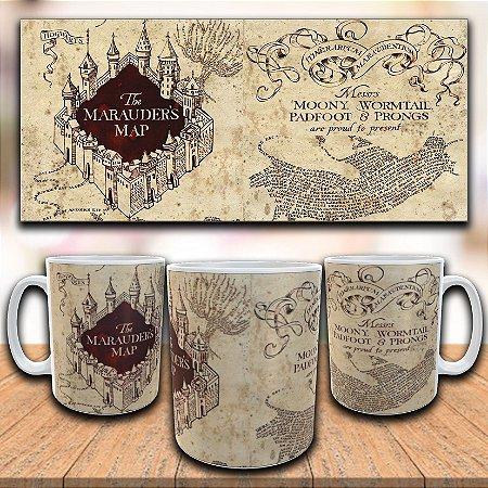 Caneca Mapa do Maroto - Harry Potter