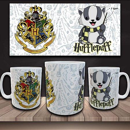 Caneca Harry Potter - Casa Lufa-Lufa - I am Hufflepuff