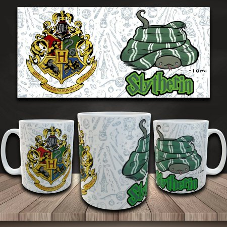 Caneca Harry Potter - Casa Sonserina - I am Slytherin