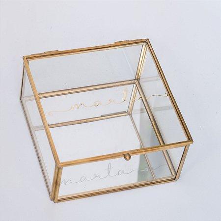 Porta Joias de Vidro Personalizado Quadrado