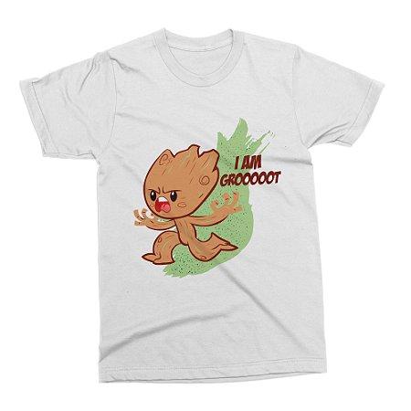 Camiseta Baby Groot (Branca)