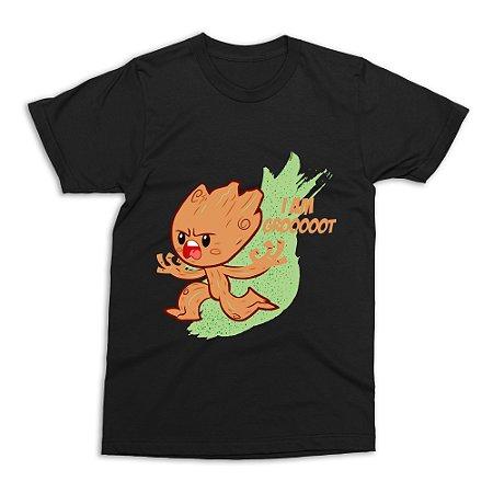 Camiseta Baby Groot (Preta)
