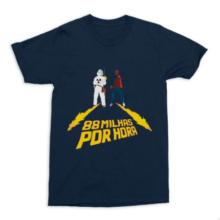 Camiseta De Volta Para O Futuro (Azul)