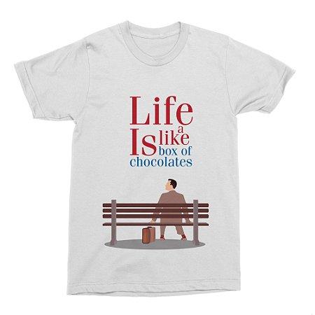 Camiseta Forrest Gump Minimalista