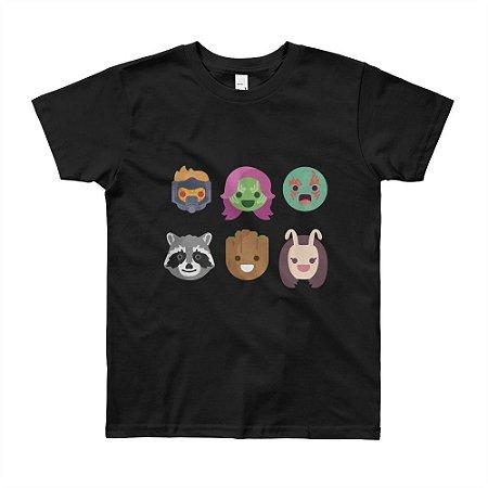 Camiseta Guardiões da Galáxia - Infantil (Preta)