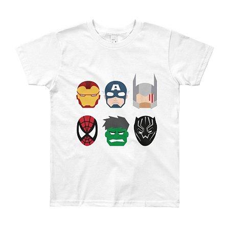 Camiseta Vingadores - Infantil (Branca)