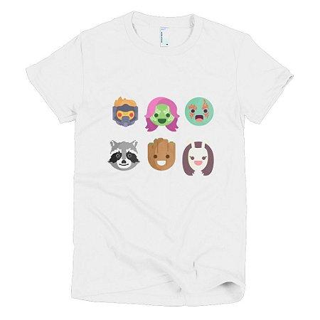 Camiseta Guardiões da Galáxia - Feminina (Branca)