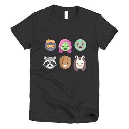 Camiseta Guardiões da Galáxia - Feminina (Preta)