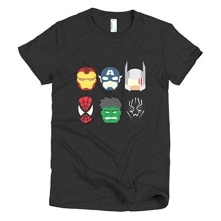 Camiseta Vingadores - Feminina (Preta)