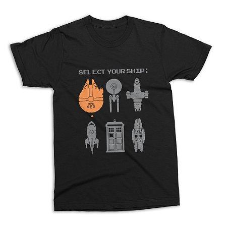 Camiseta Naves Ficção Científica