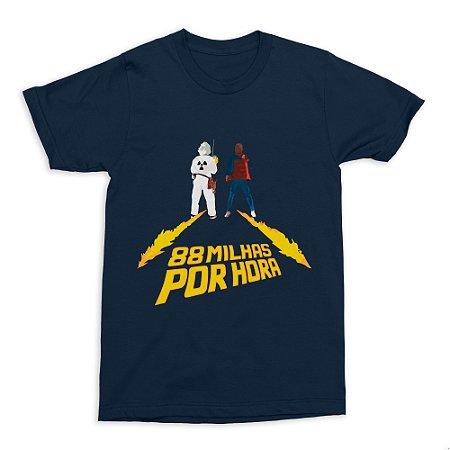 Camiseta De Volta Para O Futuro - Azul (Tamanho G)