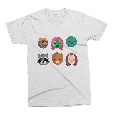Camiseta Guardiões da Galáxia - Branca (Tamanho M)