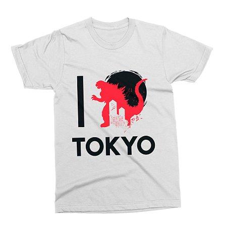 Camiseta Godzilla - Branca (Tamanho G)