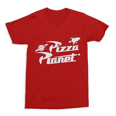Camiseta Toy Story Pizza Planet - Vermelha (Tamanho P)