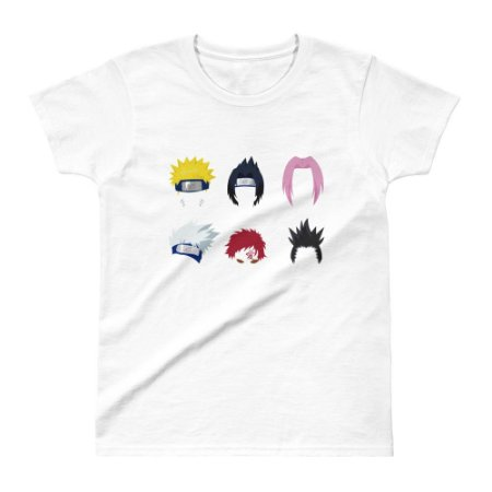 Camiseta Naruto - Personagens (Branca) - Feminina