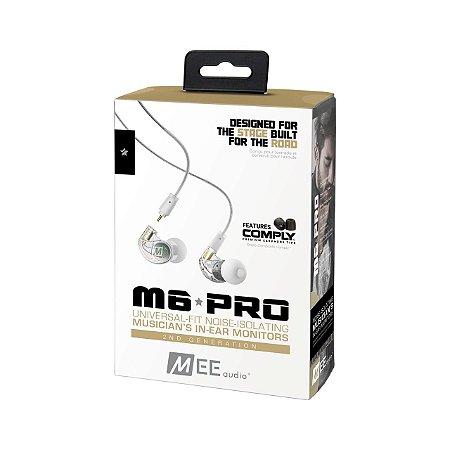 MEE Audio M6 PRO Clear - 2ª Geração