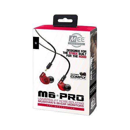 MEE Audio M6 PRO Red - 2ª Geração