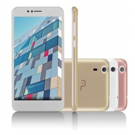 Smartphone Multilaser MS55 Quad Core Android 5.0 Cam 5/8Mp 8+16Gb 5,5' 3G Branco NB233