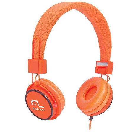 Fone De Ouvido Multilaser Ph086 Fun Headphone Laranja