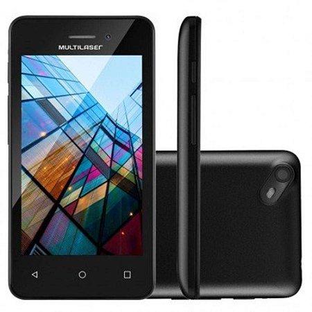"""Smartphone Multilaser Ms40s Preto 4"""" Câmera 2 Mp + 5 Mp 3g Quad Core 8gb Android 6.0 - P9025"""