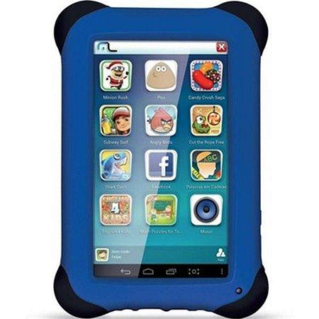 Tablet Multilaser Kid Pad Azul Quad Core Dual Câmera Wi-Fi Tela Capacitiva 7pol Memória 8gb - Nb194