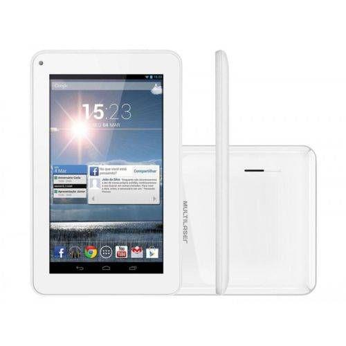 Tablet Multilaser M7s Branco Quad Core Android 4.4 Kit Kat Dual Câmera Wi-Fi Tela Capacitiva 7 Memória 8gb - Nb185