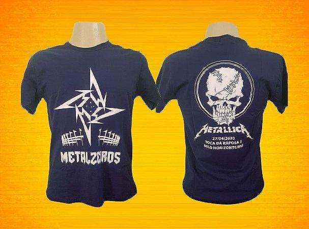 Camisa Metallica & Metalzeiros