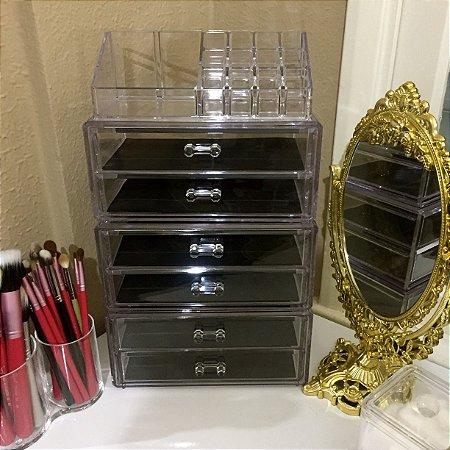 Porta Maquiagem de Acrilico com 6 Gavetas Organizador 65
