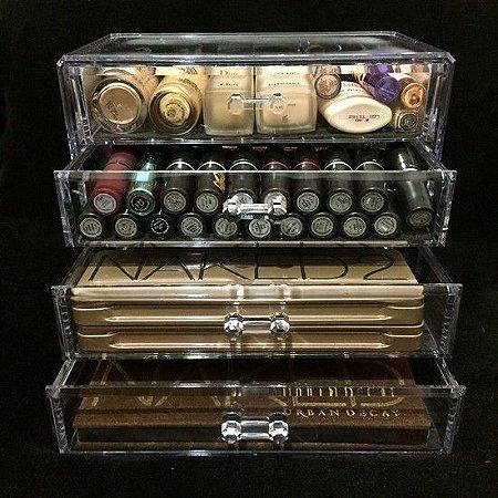 Gaveteiro Porta Maquiagem de Acrilico Organizador 72