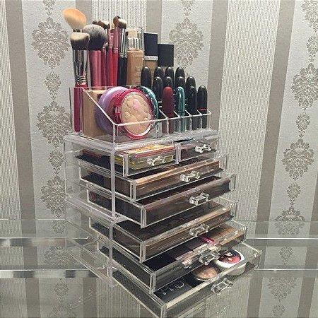 Porta Maquiagem Organizador em Acrilico