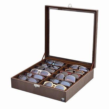 Porta 12 Óculos - 4 Cores
