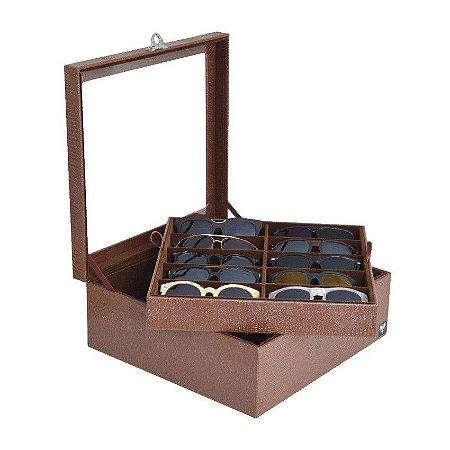 Caixa Porta 20 Óculos - 4 cores