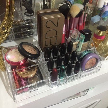 Porta Maquiagem de Acrilico para Pia Organizador 22