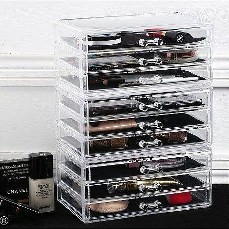 Porta Maquiagem de Acrilico Joias e Escritorio Organizador 10