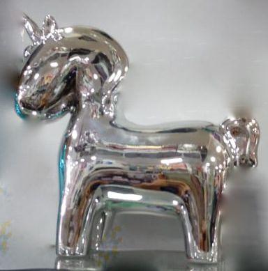Enfeite Unicornio Prata - Cofre de Cerâmica