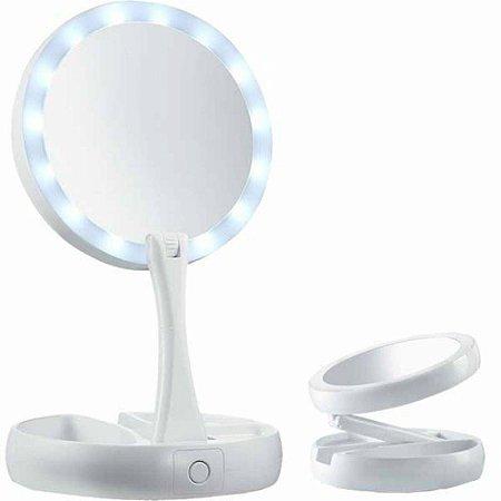 Espelho Dobrável de Led para Maquiar