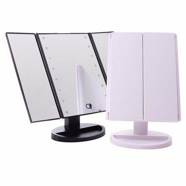 Espelho Triplo com Luz de Led