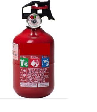 Extintor Veicular Pqs 1 kg ABC - Validade de 5 Anos (Bolinha)
