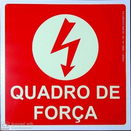 PLACA INDICATIVA DE QUADRO DE FORÇA