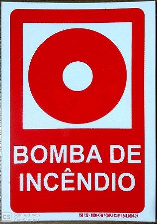 PLACA INDICATIVA DE BOTOEIRA DE BOMBA DE INCÊNDIO (VERMELHA)