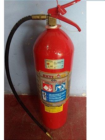 Extintor gas carbonico   6 KG completo pra (DESENTUPIR )COM DUAS MANGUEIRAS