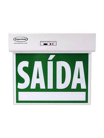 Sinalização Saída de Emergência Standard Dupla Face Verde Seletor e Adesivos