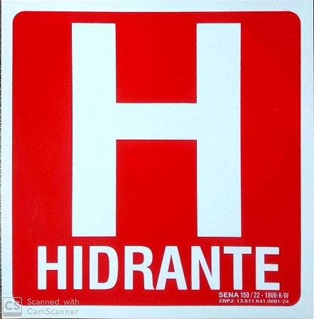PLACA INDICATIVA DE HIDRANTE (H)