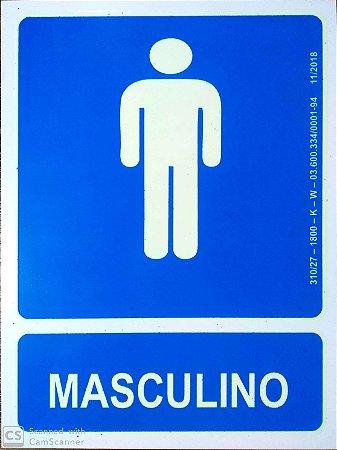 PLACA INDICATIVA BANHEIRO MASCULINO